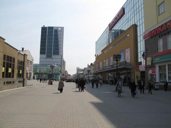 пешеходная зона площадь 1905 года екатеринбург центр екатеринбурга фото
