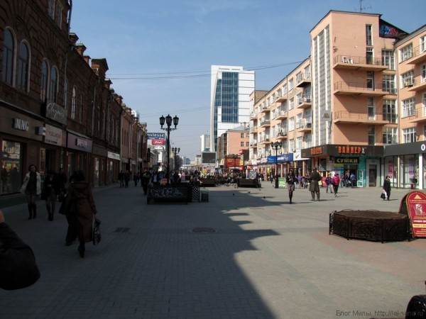 пешеходная зона на улице Вайнера площадь 1905 года екатеринбург центр екатеринбурга фото