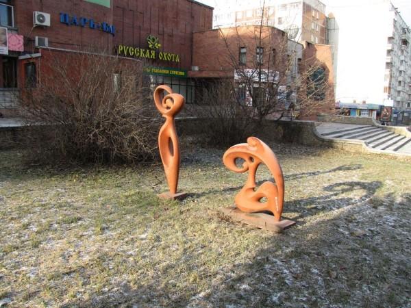 памятники новосибирска нарымский сквер банная скульптура