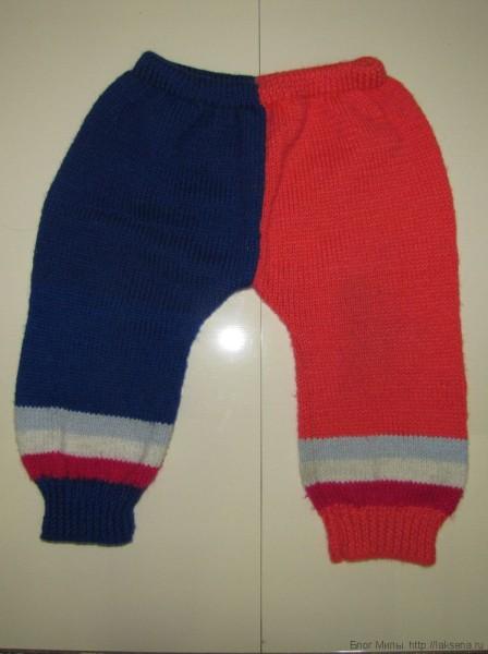 вязаные штаны спицами для малыша