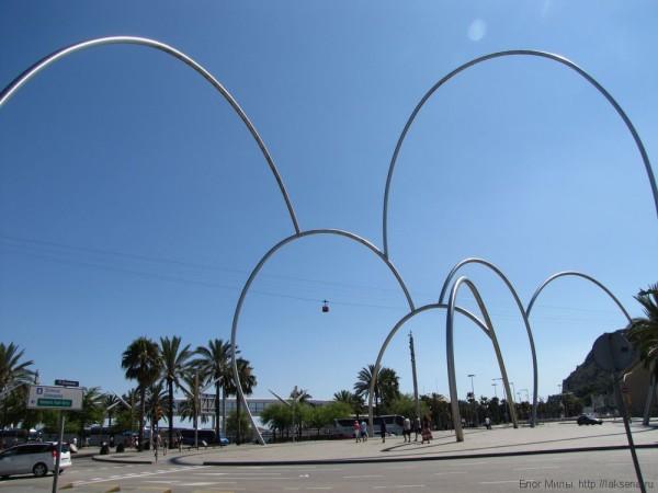 набережная барселоны порт барселоны памятник морским волнам