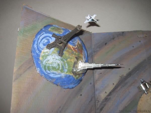 поделка ко дню космонавтики открытка на день космонавтики