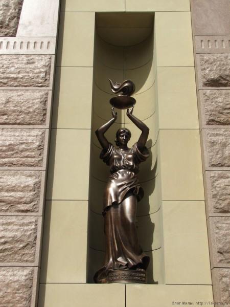 Городские скульптуры Новосибирска по улице Мичурина скульптура богини гестии