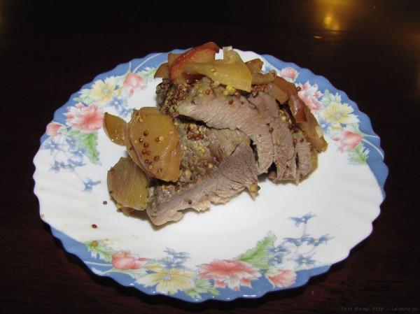 свинина с яблоками в духовке свинина с яблоками запеченная в фольге
