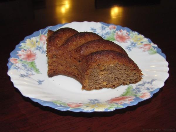 необычный Полезный овсяный пирог без муки яиц и масла