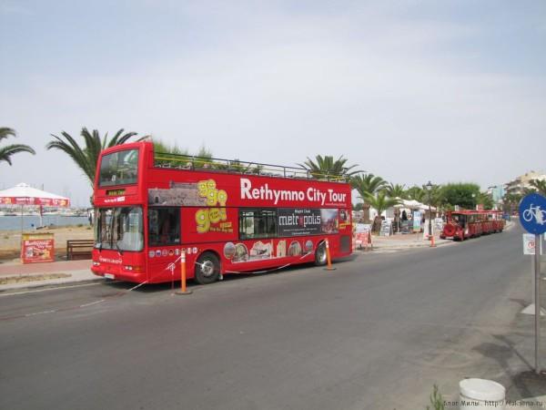 красный автобус Rethymno city tour