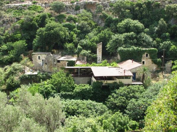 развалины в ущелье Мили автобус Rethymno city tour