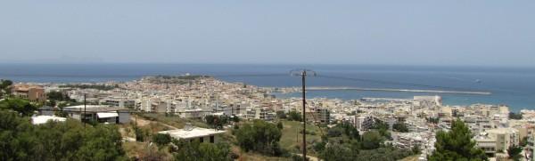панорама Ретимно красный автобус Rethymno city tour