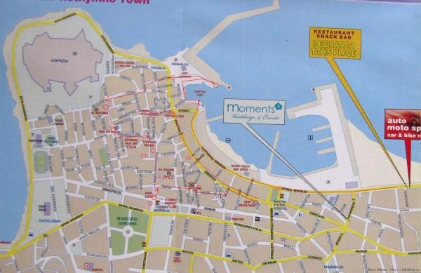 карта ретимно старый город