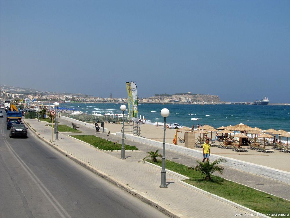 Ретимно фото пляжей и набережной