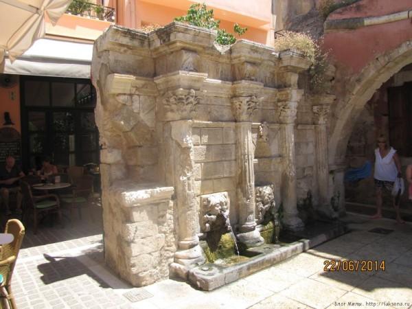 ретимно старый город фонтан Римонди