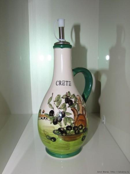 оливковые сувениры с крита бутылка для оливкового масла