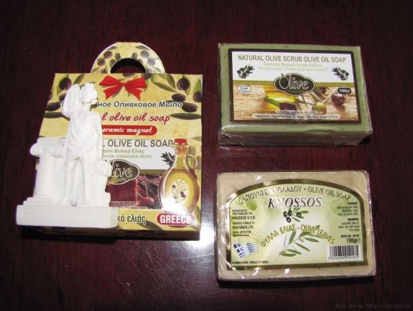 оливковые сувениры с крита оливковое мыло