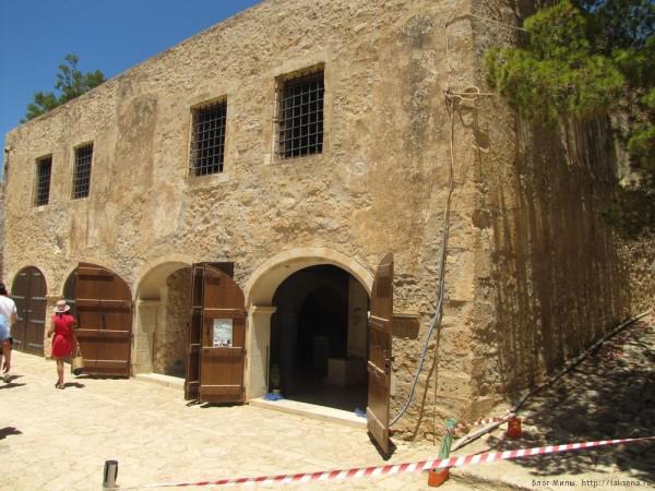 Венецианская крепость Фортецца Ретимно оружейный склад