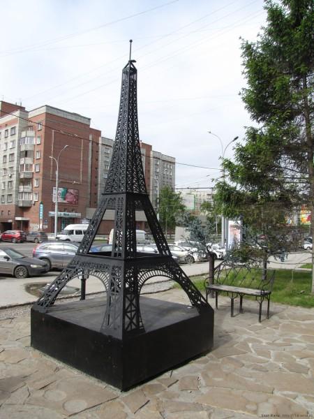 эйфелева башня новосибирск уличные скульптуры Новосибирска на улице ленина