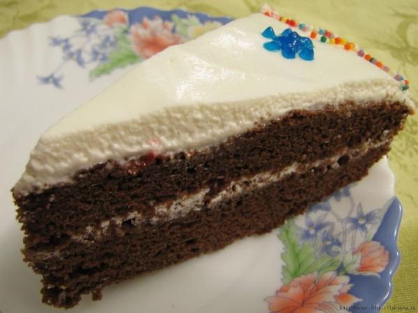 Очень шоколадный торт без яиц и масла