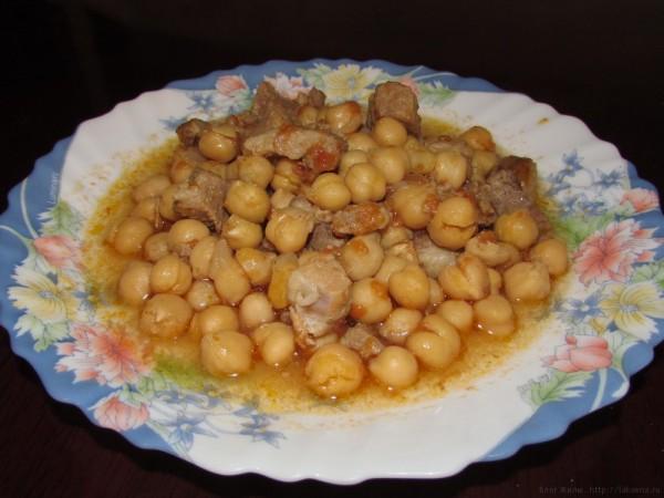 мясо с нутом. критская кухня