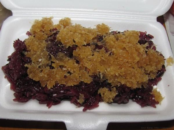 Десерты тайской кухни кокосовый бурый клейкий рис