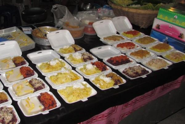 Десерты тайской кухни кокосовый клейкий рис