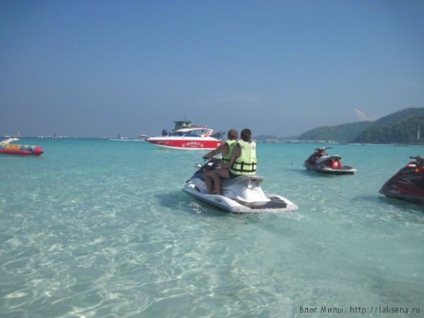 Отдых на острове Ко Лан, Паттайя скутер