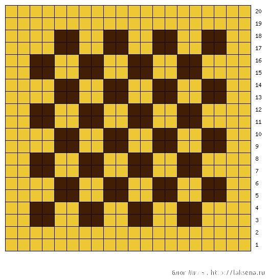 аппликация шахматы крючком