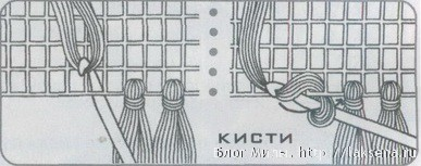 аппликация солнышко крючком кисти для шали