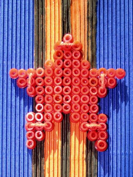 Открытка 23 февраля своими руками звезда крестиком