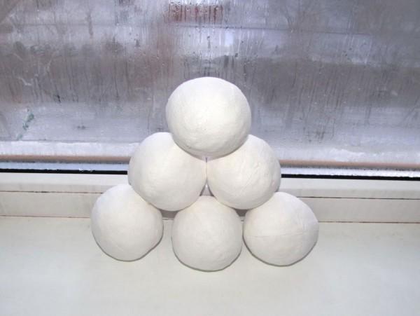 Сшить снежок для детского сада