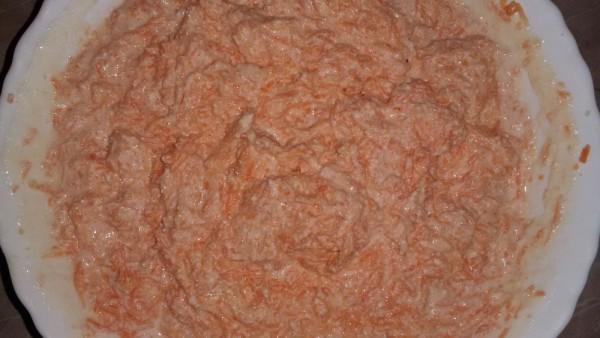 Морковно творожная запеканка