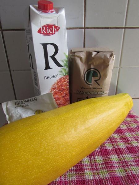 Ананасы из кабачков с ананасовым соком
