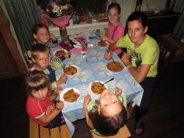 Лето в деревне ужин