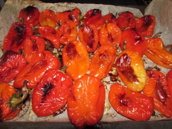 Печеный болгарский перец на зиму