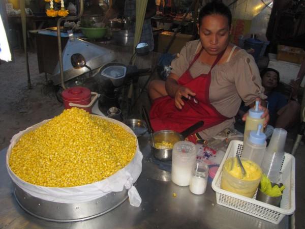 тайская вареная кукуруза