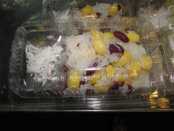 Клейкий рис с бобами в кокосовом молоке (Khao Neeo Tua Dum ) десерты тайско кухни тайские десерты