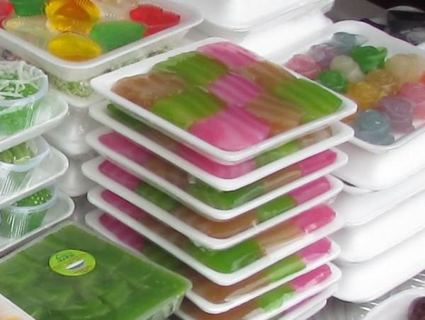 Khanom Chan - многослойный пирог десерты тайской кухни