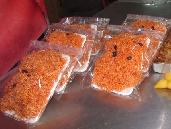 Хрустящая рисовая вермишель с изюмом