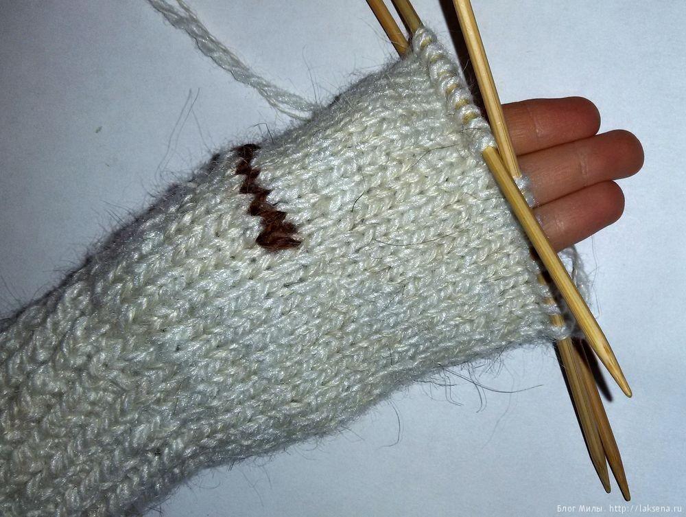 Вязание варежек спицами для детей — Блог Милы