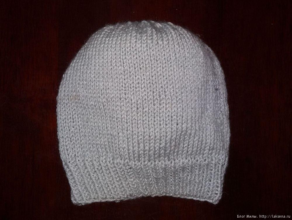 Вязаная спицами шапка инопланетянина — Блог Милы
