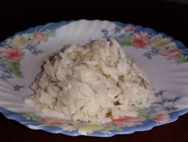 Рис с кокосовым молоком и геранью