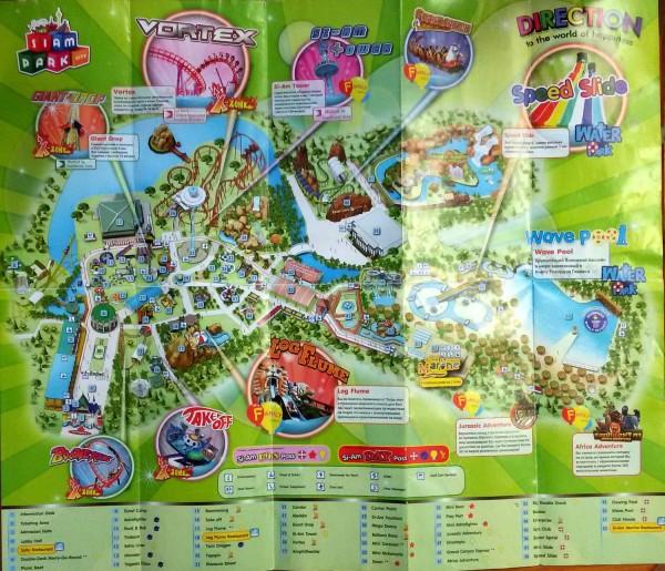 карта план сиам парк бангкок