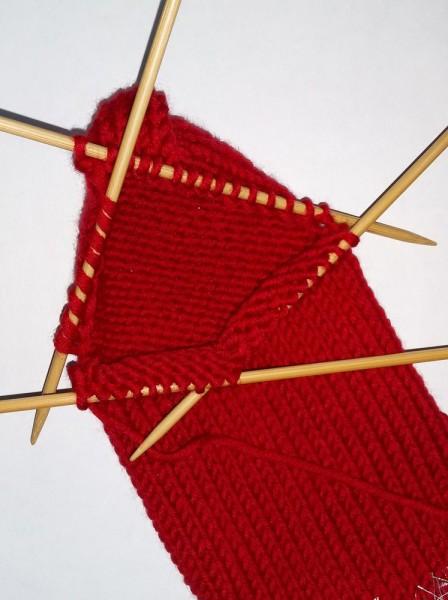 Рождественский носок спицами