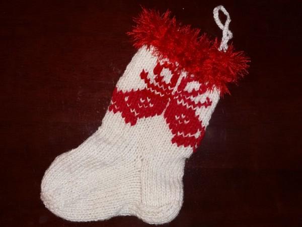 носок для подарков своими руками вышивка колокольчики
