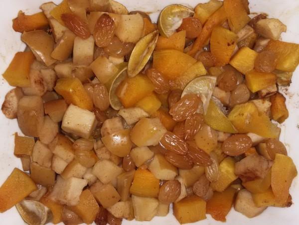 Десерт из тыквы с яблоками
