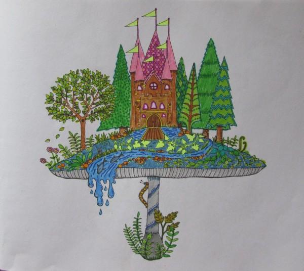 "раскраска взрослым ""Заколдованный лес"" (Enchanted forest)"