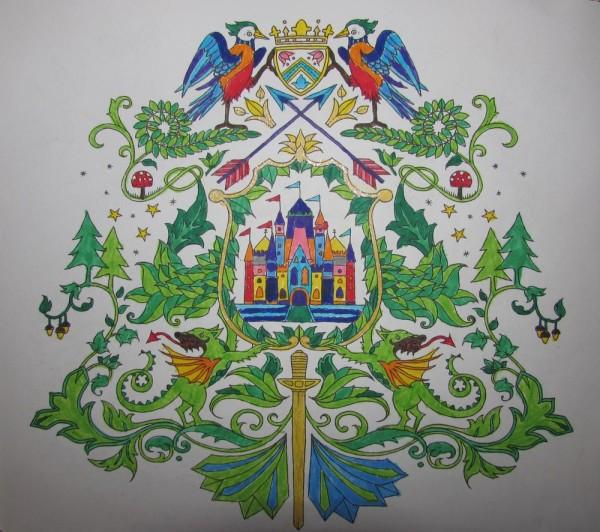 "раскраска  ""Заколдованный лес"" (Enchanted forest)"