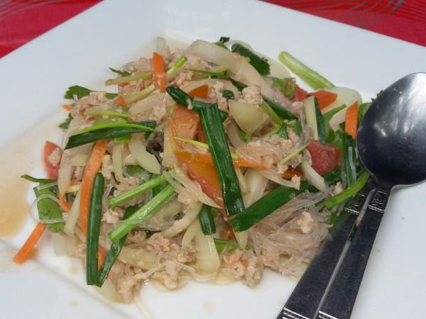 ям вун сен тайский салат из стеклянной лапши yam woon sen