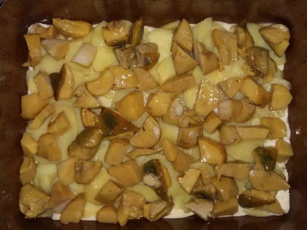 Пирог с маринованными грибами