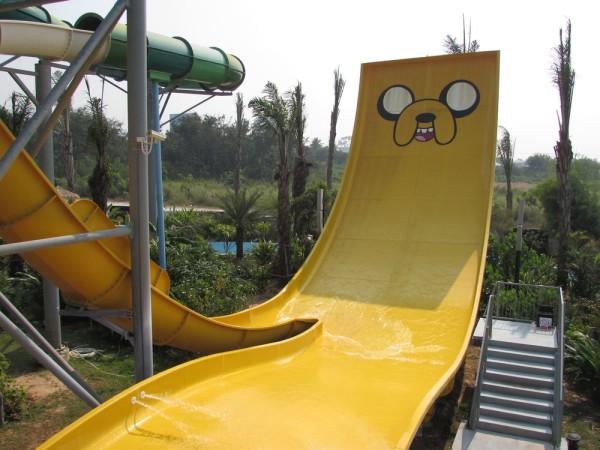 Аквапарк Cartoon Network Amazone adventure zone прыжок джейка