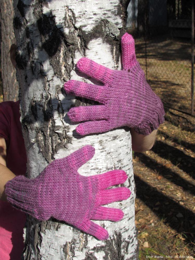 вязаные перчатки спицами для детей блог милы