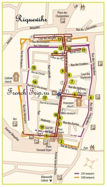 карта риквир map riquewihr